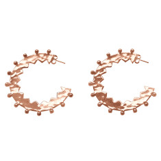 Maya large hoop earrings in rose gold plate