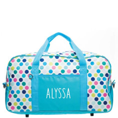 Personalised Overnight Bag - Spotty