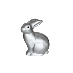 Heico metallic silver rabbit lamp