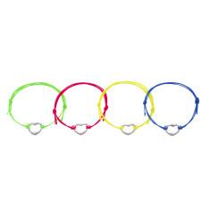 Neon heart bracelets