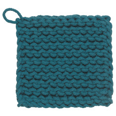 Parker crochet potholder blue