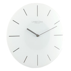 Glass Wall Clock by London Clock Company (various colours)