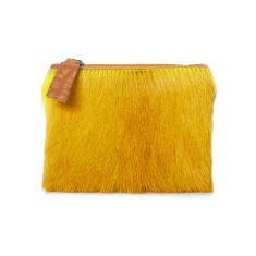 Kim Coin Purse In Yellow Bok