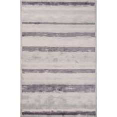 Light grey & plum kitten lustrous finish rug
