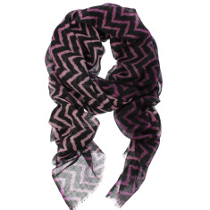 Harlow zig zag print wool silk scarf gift boxed (various colours)