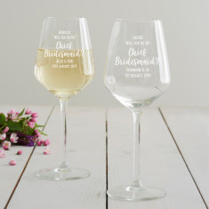 Personalised 'Will You Be My Chief Bridesmaid?' Wine Glass