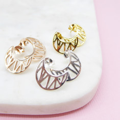 Cosmic moon earrings (Various Colours)