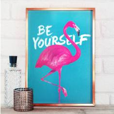 Be yourself flamingo print