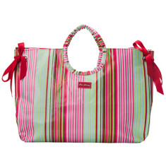 Selma stripe beach bag