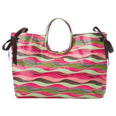 Wilson stripe beach bag