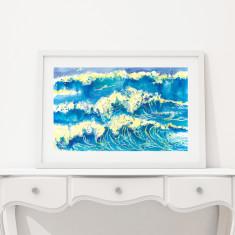 Wave scene art print