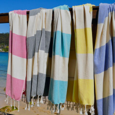 Maxi stripe towel (various colours)