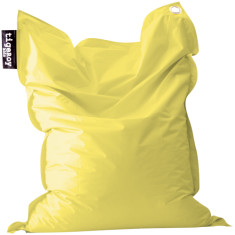 Big indoor/outdoor beanbag cover in flaxseed yellow