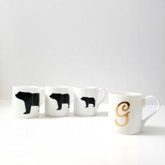 Goldilocks and the three bear mug set