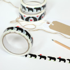 Santa and elf Christmas gift tape