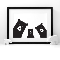 Bear family selfie portrait