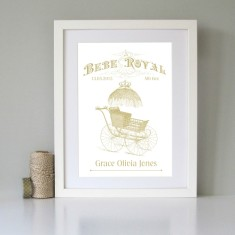 Le bebe royal personalised art print