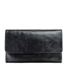 Audrey leather wallet in black
