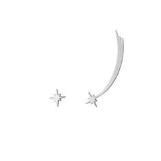 Shooting Star Ear Climbers Silver