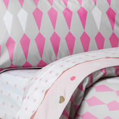 Lattice pink sheet set