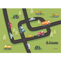 Beep Beep personalised placemat