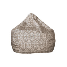 Beige damask bean bag cover