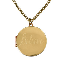 Believe... engraved vintage locket