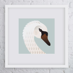 Belle swan bird art print