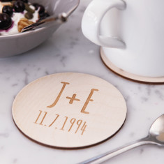 Personalised initials coasters