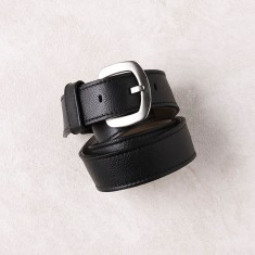 Jeans belt in black