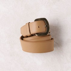 Jeans belt in tan