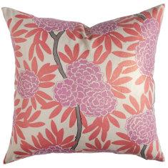 Berry fleur chinoise cushion