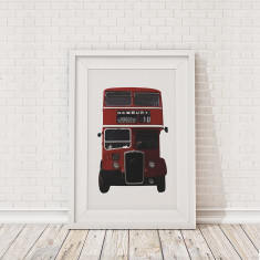 British bus framed print