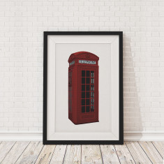 British phone box framed print