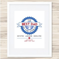 Best dad badge print