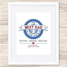 Best dad badge print