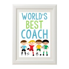 World's best coach print