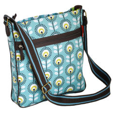 Tamelia cotton canvas Blue Pincushion messenger bag