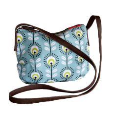 Tamelia cotton canvas Blue Pincushion smile bag