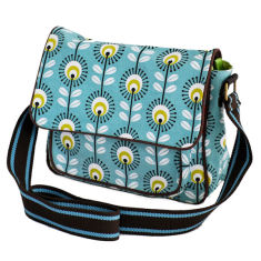 Tamelia cotton canvas Blue Pincushion satchel