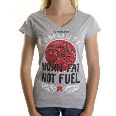Burn fat not fuel women's t-shirt in grey