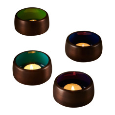 Spectrum votives in cool colours (set of 4)