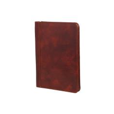Folio brown genuine leather compendium