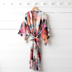 Poppy Silk Dressing Gown