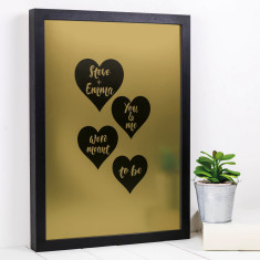 Personalised meant to be gold or silver metallic print