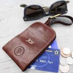 Ledro Personalised Mr And Mrs Leather Luggage Tags