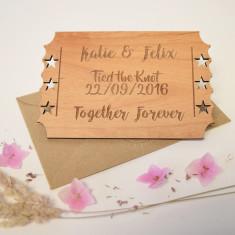 Personalised Wedding Wooden Keepsake
