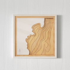 Wooden 3D Contour Map of Sydney Beaches