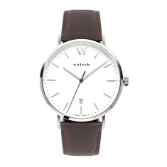 Versa 40 Watch In Steel with Brown Band