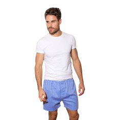 Blue herringbone boxer shorts